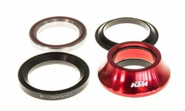 KTM Team A-Head Steuersatz Tapered 1 1/4 rot 15mm IS47/33 IS42/28.6