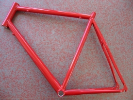 Heli-Bikes Rennrad Rahmen 28 62cm rot