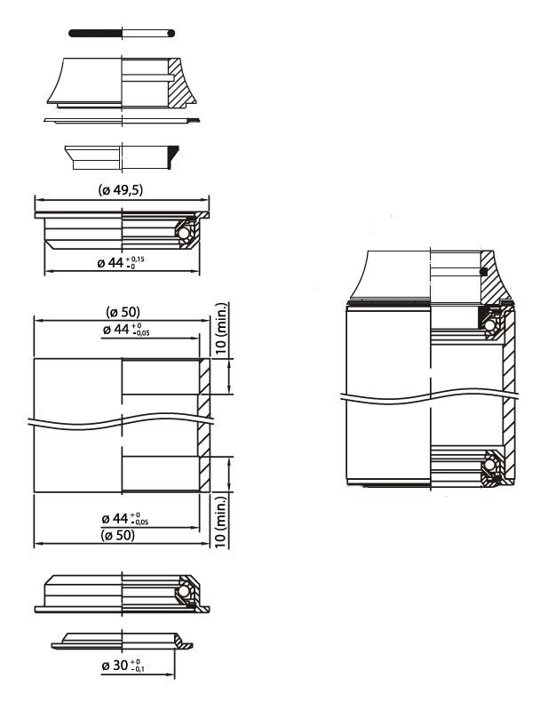 1 1/8 Semi-Integriert ZS44