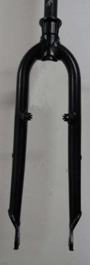 Heli-Bikes MTB Alu Starrgabel Disc+V-Brake 26 schwarz matt