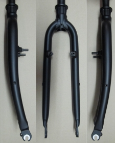 Heli-Bikes Trekking Cross Alloy Rigid Fork V-Brake 28 black mat