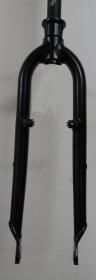 Heli-Bikes MTB Alloy Rigid Fork Disc+V-Brake 26 black mat