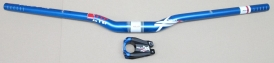 XLC Pro Ride Riser Lenker HB-M16 31,8mm blau + Vorbau ST-FR02