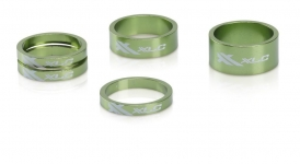 XLC AS-A02 Ahead Spacer Set 1 1/8 Limegreen
