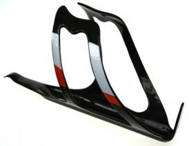 Heli-Bikes Carbon Flaschenhalter 30gramm UD-weiss-orange