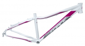 Force Amelia Damen MTB Rahmen 26 weiss-pink Disc Only